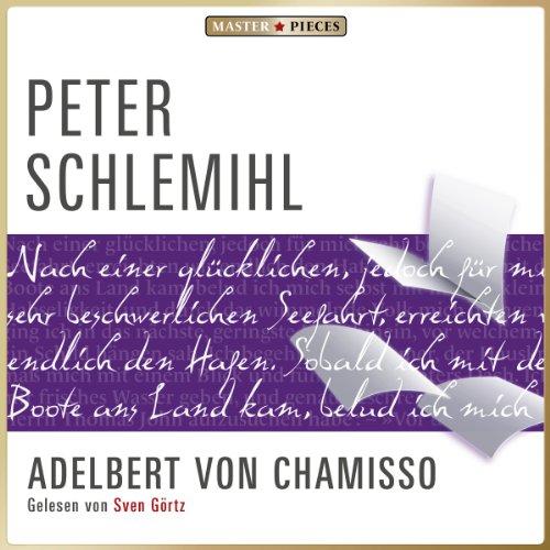 Peter Schlemihl                   By:                                                                                                                                 Adelbert von Chamisso                               Narrated by:                                                                                                                                 Sven Görtz                      Length: 2 hrs and 27 mins     Not rated yet     Overall 0.0