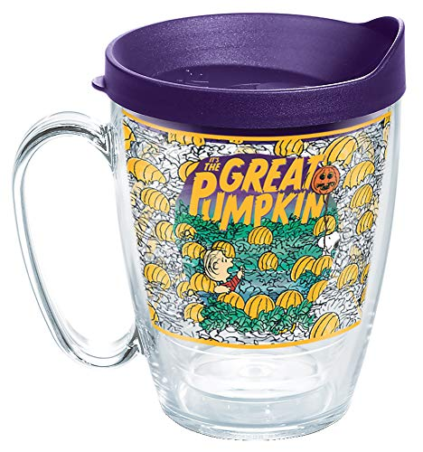 Tervis Peanuts-Pumpkin Made in USA Double Walled Insulated Tumbler, 16oz Mug, Clear