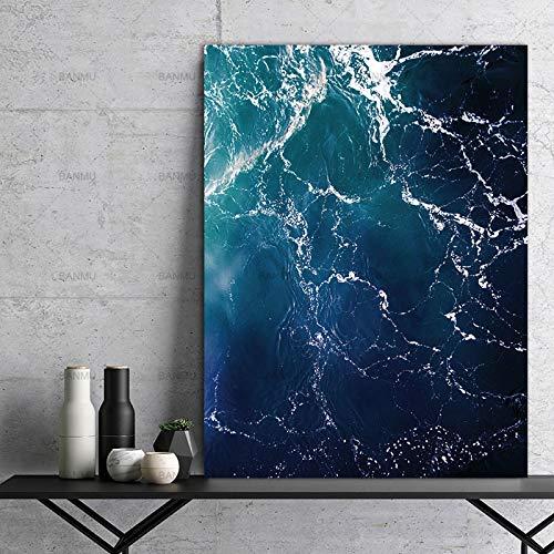 Wandbild Home Decor Leinwand Dekoration für Wohnzimmer Leinwand Malerei Wandkunst Bild auf Meerwasser Kein Rahmen