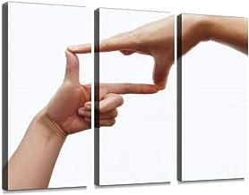 手 仕草 手のしぐさ 指フレーム 手のサイン 指ファインダー エル字 アングル 構図 フレーミング ライブビューモダン アートボード 壁アート 壁掛け モダンアート 壁飾り木枠セット 壁芸術 新築祝い