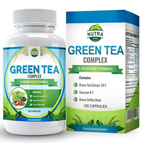 Estratto di tè verde per dimagrire e integrare la dieta, capsule da 1000mg, 15% in più di ECGC rispetto alla concorrenza, integratore ultra potente per perdere peso, forte antiossidante, 120 capsule
