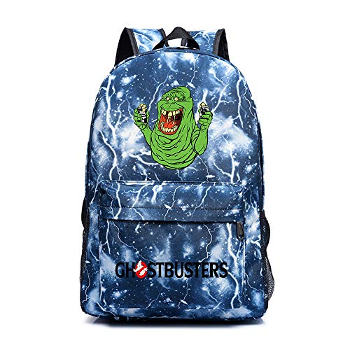 FONLONLON Ghostbusters Ocio Escuela Mochila Mochila impresión de Escolar for niños y niñas (Color : Blue03, Size : 30 X 14 X 45cm)
