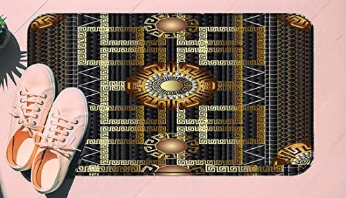DIIRCYB Fu?Matte Indoor Outdoor rutschfeste waschbare Fu?Matte,Geometric Greek 3D Vector Seamless Pattern,DIY Cropping Teppich,F¨¹r Hauptk¨¹Che Schlafzimmer Badezimmerboden Carpet17.5' X 29.5'