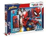 Clementoni- Marvel Spider-Man Puzzle Suelo, 104 Piezas, Multicolor, 104pezzi (27118)