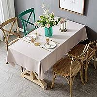 コットン麻生地ピュアカラーラウンドスクエアテーブルクロス、テーブルリビングルームの寝室の結婚式などに使用されます。北欧風ピンクシンプル小さな新鮮な百テーブルクロス、 キッチン用品 (Size : 135*180cm)