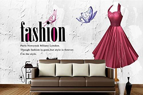 Papel tapiz Imagen de ropa cosmética de estilo retro tienda de ropa sastrería centro comercial cuadrado boda tienda cartel mural-250cmx175cm(LxA)