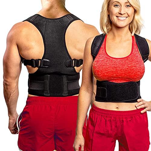 Back Brace Posture Corrector for Men & Women -...
