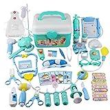 Médico del Kit del Juguete niños Que Hagan de Doctor Nurse Juguetes de plástico Verde de rol Conjunto de Juguete con Lleva la Caja de Almacenamiento Regalos de cumpleaños 44PCS