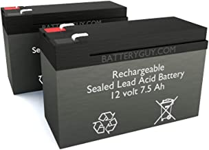 BatteryGuy BGH-1275F2 (Qty of 2) 12V 7.5ah High Rate Rechargeable SLA Battery