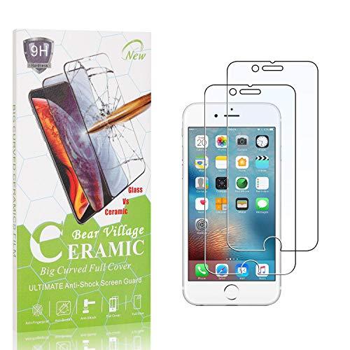 Bear Village® Verre Trempé pour iPhone 6 Plus/iPhone 8 Plus/iPhone 7 Plus, Anti Rayures, sans Traces de Doigts, Dureté 9H Protection en Verre Trempé Écran pour iPhone 6S Plus/iPhone 6 Plus, 2 Pièces