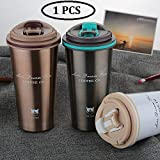 ASPERIA Thermocup Tea Coffee Mug 380ml Double Wall Stainless Steel Travel Cup Car