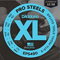 D'Addario EPS490 (10弦) Pro Steels E-9th Pedal Steel Tuning (013-038) ダダリオ ペダルスチールギター弦 EPS-490 【国内正規品】
