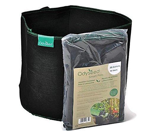 odyseed, SmartPot 74.9 litros-Macetas de geotextil para Cultivo Interior y Exterior
