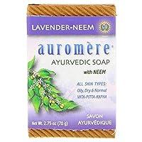 オーロメア (Auromere) アーユルヴェーダ 石鹸/ラベンダー・ニーム 78g