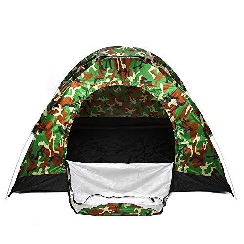 XKMY Perfecto para acampar 2 – 3 personas impermeable tienda de campaña rápida abierta automática al aire libre refugio portátil senderismo pesca viajes anti UV sol (color: camuflaje)