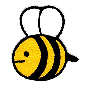 Large Chenille Bumble Bee Patch 10.5cm 100% Chenille - Custom Patches - Childrens - Girly