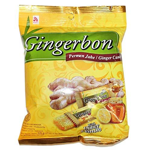 [5x 125 g] Caramelos de jengibre AGEL originales con sabor a miel y limón / limón natural a la miel