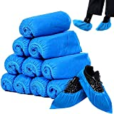 Cubrezapatos Desechables, Cubre Zapatos Antideslizantes, Cubre Zapatos de Protección, Fundas de Zapatos Desechables Engrosada a Prueba de Polvo para Calzado de Interior/Exterior