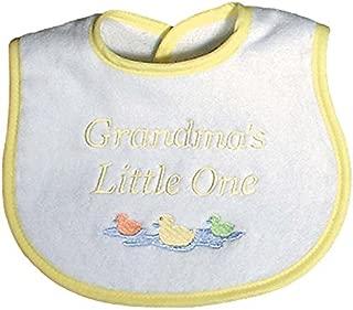 Raindrops Grandma's Little One Embroidered Bib, Yellow