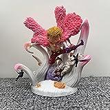 Anime One Piece figura GK 12cm Q versión muñeca Donquixote Doflamingo PVC Figuras de acción Versión linda Colección Modelo Juguete Moda Estatua Figura Muñeca pop vinilo figura de acción adorno anime