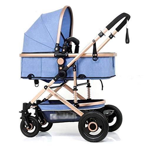 LYP Triciclo Bebé Trolley Trike Cochecito de bebé, Cochecito de bebé, Cochecito de altibadero, Puede Sentarse un Cochecito Plegable de Choque reclinado, Todas Las Estaciones (Color : H)