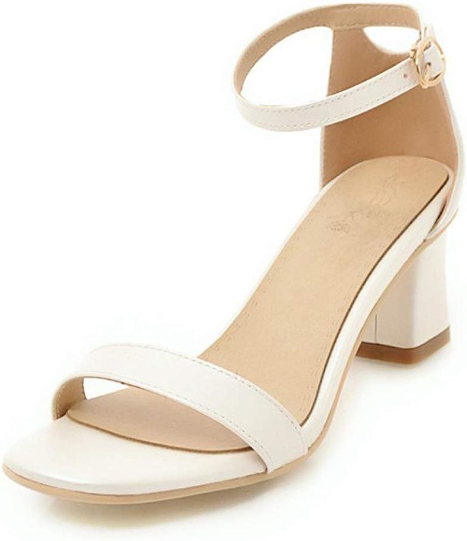 Women High Heels Sandals Summer Open Toe Ankle Strap shoes Block Heels Party Ladies Dress shoes