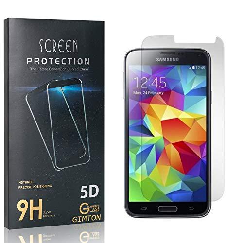 GIMTON Displayschutzfolie für Galaxy S5, Ultra Dünn HD Panzerglasfolie mit 3D Touch, 9H Härte Schutzfilm aus Gehärtetem Glas für Samsung Galaxy S5, 4 Stück
