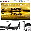 "LG 65SM9000PUA 65"" 4K HDR Smart LED NanoCell TV w/AI ThinQ (2019) w/Soundbar Bundle Includes, Deco Gear Home Theater Surround Sound 31"" Soundbar, Flat Wall Mount Kit for 45-90 inch TVs and More"