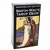 The Original Rider Waite Tarot, Universal Waite Tarot Deck, Smith Waite Tarot Deck borderless Sin bordes en inglés con la guía E Juegos clásicos de adivinación