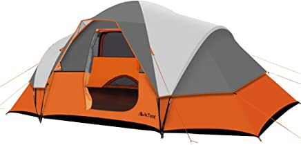9 Person Extended Dome Tent for Camping-Extra Large(16'x 9')