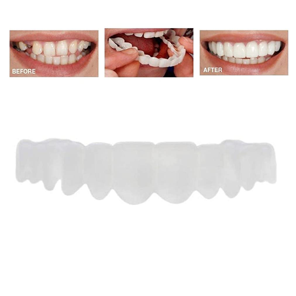 キャップ寸前入手します15ピースの歯の化粧品の快適さフィット歯の義歯歯の上のベニヤの歯ワンサイズフィット最も快適な義歯