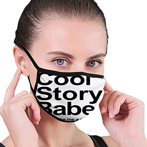 Mond Sjaal Zeggen Koel Verhaal Babe Nu Ga Maak Me Een Sandwich Leuke Phrase Sarcastische Slang Afbeelding Print Zwart Wit Herbruikbare Elastische Earhoo Mond Sjaal Fietsen Outdoor Gezicht Sjaal Camp