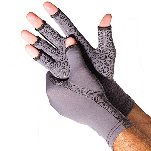 Optimum Arthritis Compression Therapy Gloves Relieve Pain Support for Hands and Joints - Large