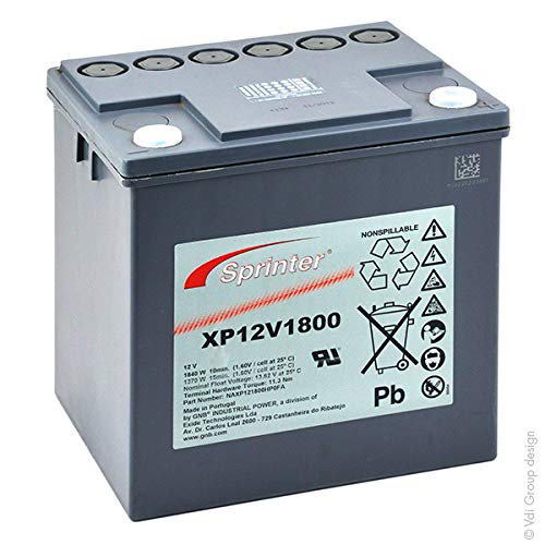 GNB Sprinter P/XP - Batería SAI Sprinter XP12V1800 12V 56.4Ah M6-F