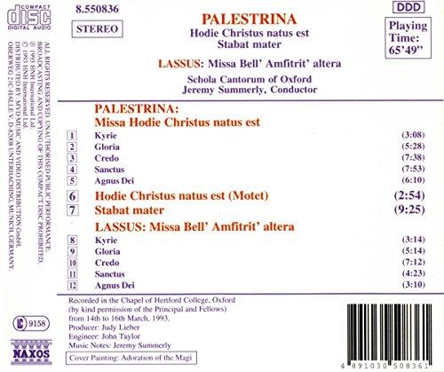 Palestrina: Missa Hodie Christus natus est; Stabat Mater · Lassus: Missa Bell' Amfitrit' altera /Schola Cantorum of Oxford · Summerly