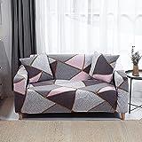 WXQY Funda elástica para Muebles, Funda para sofá elástica para Sala de Estar, Funda para sofá para sillón, Juego de Funda para sofá a Prueba de Polvo con Todo Incluido A17 de 3 plazas