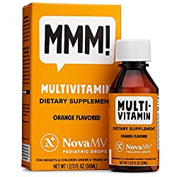 small size NovaFerrum – NovaMV Multivitamin for Infants – 50 ml – Vegan Proven Natural Fruit Flavors, Natural Sweeteners, Sugar, Gluten Free.