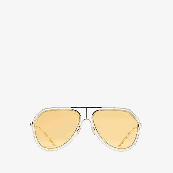 Dolce and Gabbana  0DG2176 (Pale Gold/Orange) Fashion Sunglasses