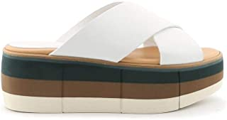 Luxury Fashion   Paloma Barceló Women MANAMIWHITE White Leather Sandals   Season Permanent