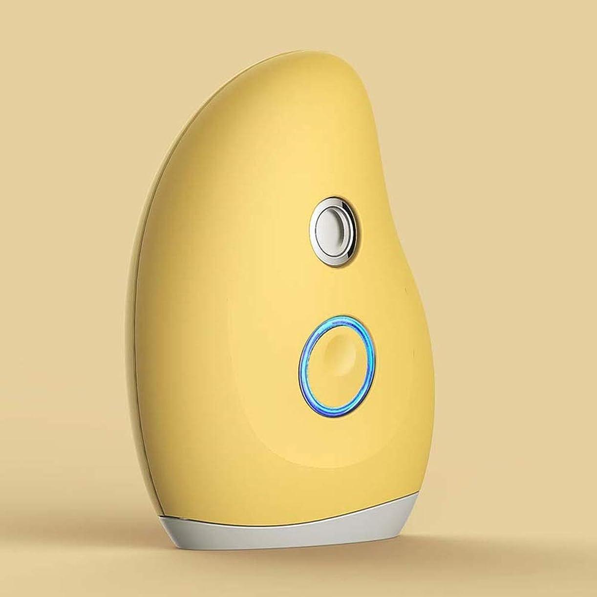 このキルト首尾一貫したZXF ナノハンドヘルドスプレーポータブル水分補給美容器具マンゴー形状コールドスプレースチーマーABS材料赤セクション黄色セクション 滑らかである (色 : Yellow)