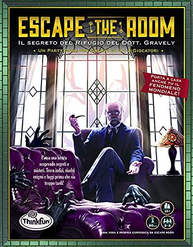 ThinkFun Escape The Room, El Misterio del Refugio del Dot Gravely, Juego de Mesa