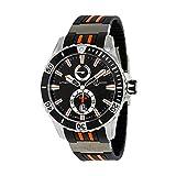 Ulysse Nardin Maxi Marine Diver Automatic Black Dial Black Rubber Mens Watch 263-10-3-952