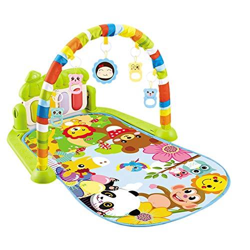 arthomer Musikalische Baby-Spielmatte,Spielen Sie Klavier-Aktivitäts-Fitnessstudio Für Babys Mit Hängendem Spielzeug,75 X57 X43 cm