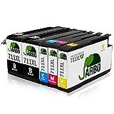 JARBO Compatibile HP 711 XL Cartucce d'inchiostro (2 Nero,1 Ciano,1 Magenta,1 Giallo) Compatibile con HP designjet T520 Series