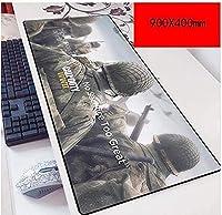 マウスパッドコールオブデューティスピードゲーミングマウスパッドXXLマウスパッド900 x 400mm大型3mm厚のベース完璧な精度と速度 D