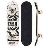 Sumeber - Tabla de skateboard para adultos, para principiantes, cumpleaños, monopatín, para adolescentes, niñas, niños y adultos, OK 8