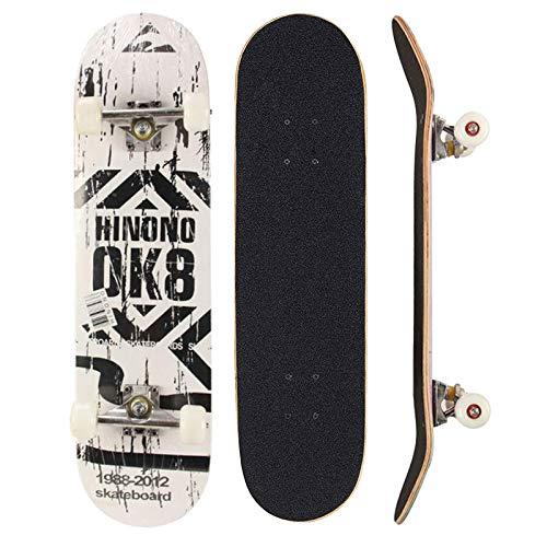 Sumeber Skateboard für Anfänger, Geburtstagsgeschenk für Teenager, Kinder und Erwachsene, OK 8