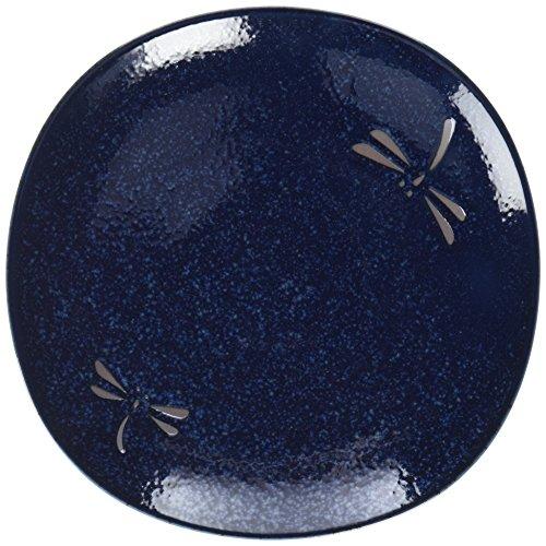 Happy Sales 4 Piece Dragonfly Blue Round Salad Plate Set, Blue