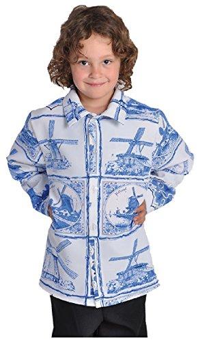 narrenkiste M211026-A-140 - Camisa holandesa para nio (talla 140), color azul