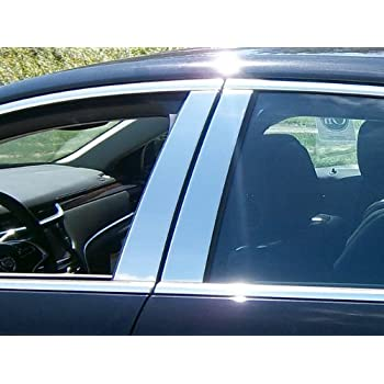 AUTOCARIMAGE Glossy Piano Black Pillar Posts B Pillars Covers for Cadillac XTS 13 14 15 16 17 18 19-8 Pieces